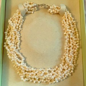 Ross Simons twisted pearl necklace
